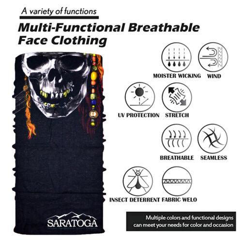 Face Mask Bandana Fishing Cooling Scarf Neck Gaiter Reusable UV 5 Pack Halloween
