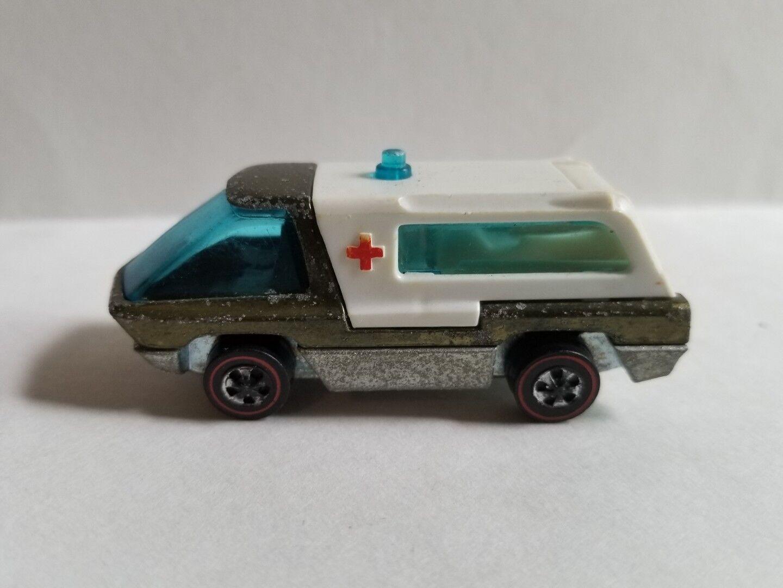 Hot Wheels rotline Heavyweights Ambulance Olive 1970