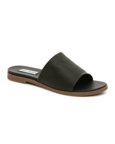 and 9.5 8 Steve Madden Womens Karolyn Flat Sandal Leather Black Size 7.5