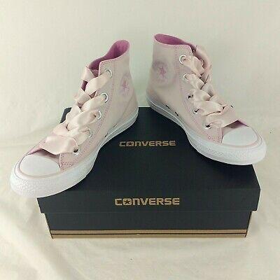 Détails sur Converse Pink Rose Femme High Hi Tops gros oeillets Ruban Lacets UK 6US 8 Entièrement neuf dans sa boîte afficher le titre d'origine