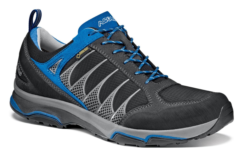 Schuhe basse Wandern Trekking Approach ASOLO BLADE GV n.42 schwarz schwarz schwarz Blau 328f61