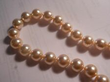 "HOBE Vintage 6mm Genuine Cream Majorca Pearl 30.5"" Necklace hand knotted mint"