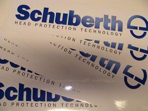 Details Zu Schuberth Fanartikel Helm Motorrad 2 Stück Aufkleber Sticker Kleber Autocollant