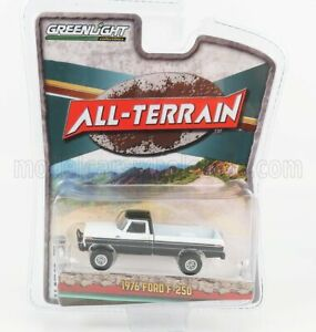 GREENLIGHT 1/64 FORD USA   F-250 PICK-UP OPEN OFFROAD 1976   BLACK WHITE