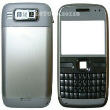 Silver White Fascia Full Housing Case Cover Faceplate Bezel Keypad for Nokia E72