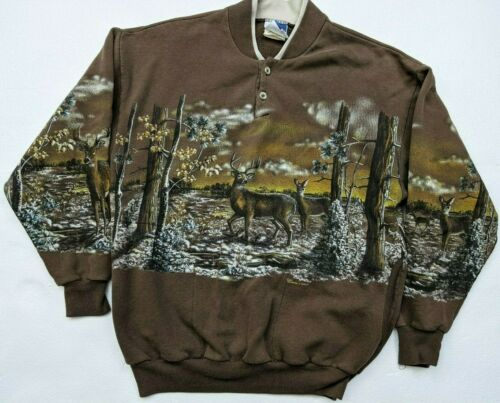 Vintage Art Unlimited Size M All over print Deer h