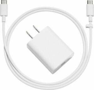 NEW Genuine Google Pixel Rapid Charging 18w USB-C Charger & USB-C To USB-C Cable