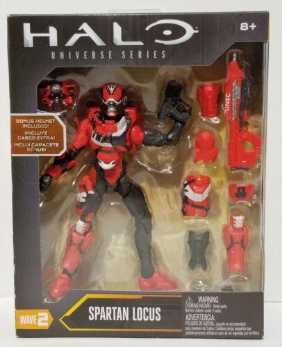 New V46 HALO Universe Series SPARTAN LOCUS Action Figure w// Bonus Helmet!