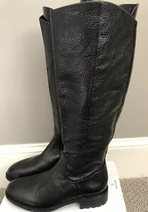 c2799ed4e91c NWOB Flat Black Ryan Leather Sam Edelman Boots side zipper sz 9.5