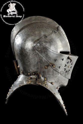 Medieval Helmet Knights Templar Crusader Armour Helmet with free stand