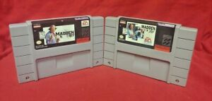 Madden 96 97 NFL Football Lot *Authentic* Super Nintendo SNES Game Works Tested
