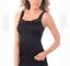 Vassarette Light Smoothing Microfiber Cami Camisole Black 2XL Style 17072 NEW