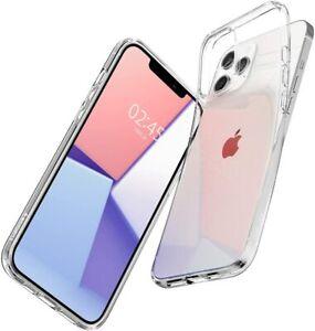 Dettagli su Cover iPhone 12 PRO Max Trasparente Spigen Liquid Crystal TPU Antiurto Custodia