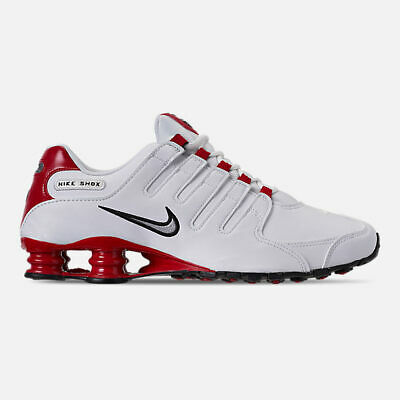 the latest f14d5 a23ae AUTHENTIC NIKE SHOX NZ Red White Black 378341 110 Running Shoes Men size |  eBay