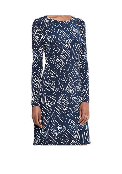 Lauren Ralph Lauren Printed Jersey A-Line Woman Größe 10 NWT