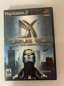Deus Ex The Conspiracy  Play Station 2 Game Used A07