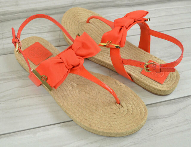 c7fade9fbae Tory Burch Penny Flat Thong Sandal in Poppy Red Size 8 for sale ...