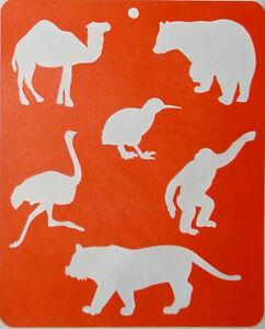 STENCIL-FLEXI-VINYL-TEMPLATE-034-ANIMALS-034-Lg-21-x-17cm-Made-in-Australia