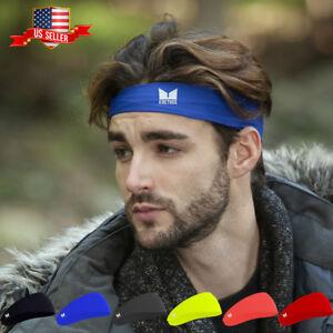 216101dc03ea Mens Women Sweat Sweatband Headband Yoga Gym Running Stretch Sports ...
