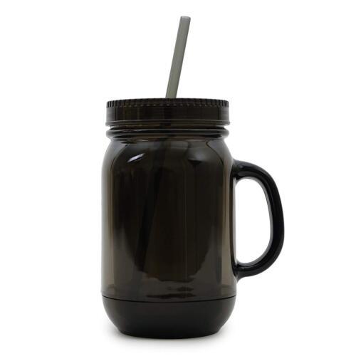 ImpecGear 20 Oz Mason Jar Doubled wall Acrylic Cup W// Straw Tumbler Mug w Handle