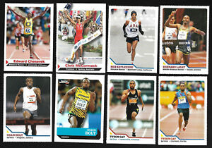 Collection-Lot-57-SI-Kid-Track-Field-Marathon-Cards-Rookie-Usain-Bolt-Carl-Lewis