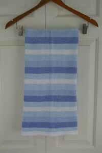 Pottery Barn Kids Blue White Striped Knit Baby Blanket Lovey Security PBK