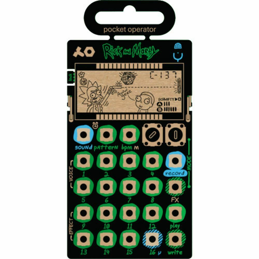 Teenage Engineering PO-137 Rick und Morty Pocket Betreiber Micro Sampler New