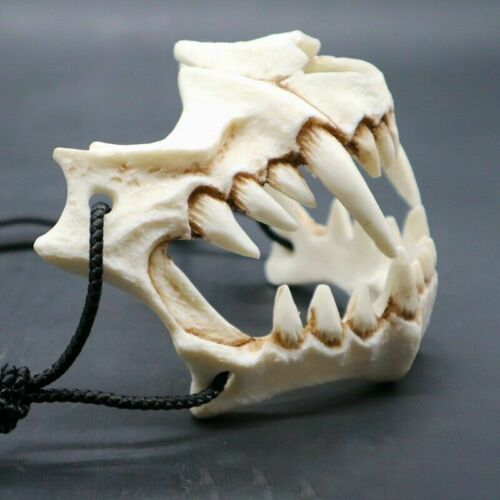 Japanese Dragon God Mask Resin White Skull Scary Half Face Halloween Party