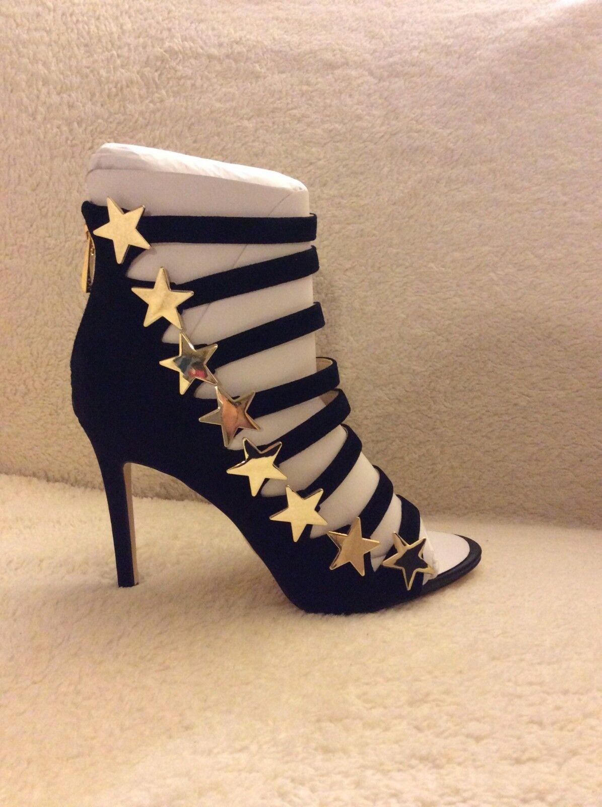 Katy Perry Stella Negro Negro Negro Gamuza oro Estrella Zapato De Mujer De Taco Alto Talla 8 M  Venta al por mayor barato y de alta calidad.