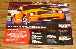 2008 Ford Mustang Special V6 Pkg Sales Brochure Sheet