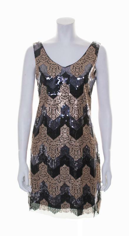 Deby Debo Deby Debo Gold Multi Sequin Sleeveless Dress