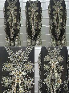 Ladies-Women-039-s-New-Summer-Floral-print-Long-kaftan-dress-african-style-12-to-24