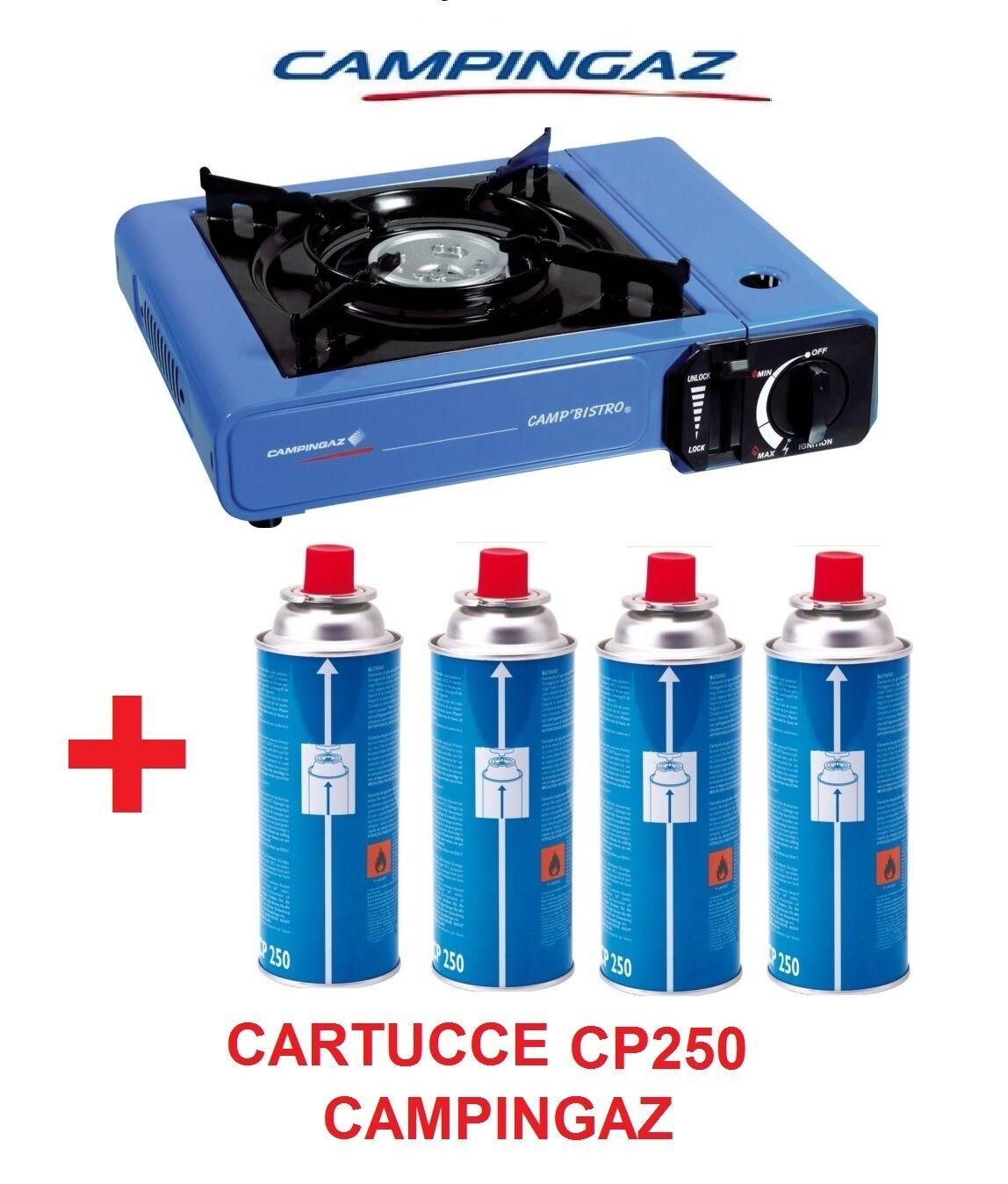FORNELLO DA TAVOLO CAMP BISTRO IDEALE PER CAMPEGGIO + 4 CARTUCCE GAS CAMPINGAZ