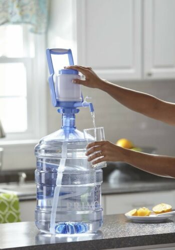 NEW Primo Manual Pump Bottled Water Dispenser with Handle Fit 3-5 Gallon