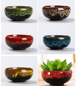 Image Is Loading Ceramic Plant Pots Planters Pottery Clay Bonsai