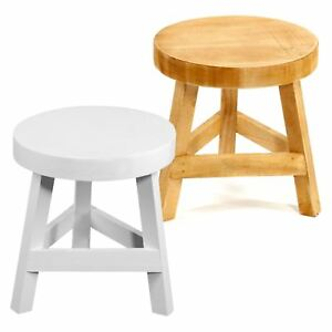 Ordinaire Image Is Loading Wooden Stool Three Legged 3 Legs Wood Round