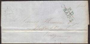 1846-PRE-STAMP-IRISH-ENTIRE-CONTRACTED-COLERAINE-CANCEL-039-P-D-C-RAINE-039