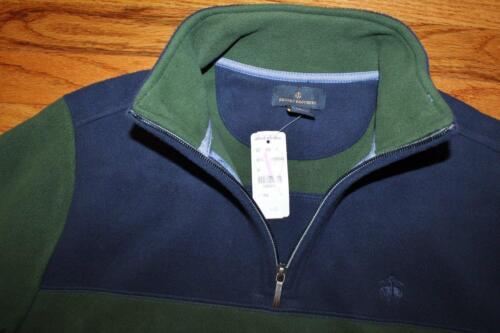 NEW NWT Brooks Brothers Mens Polar Fleece Pullover Jacket $79 Green /& Blue *6A