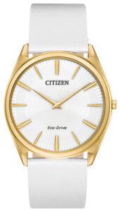Citizen Eco-Drive Women's AR3072-09A Stiletto Gold-Tone Case Strap 39mm Watch