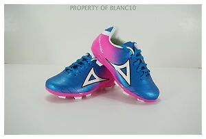 buy online 2b9e0 e561d Image is loading Pirma-TODDLER-Soccer-Cleats-Style-179-Blue-Pink-
