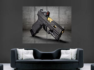 Image Is Loading GLOCK 19 PISTOL GUN POSTER GIANT WALL ART