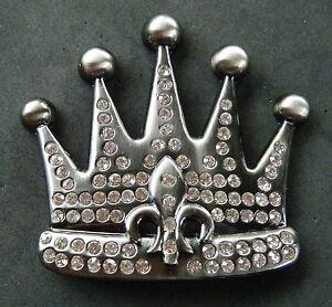 Royal-Royalty-Rhinestone-Crown-Fleur-De-Lis-Belt-Buckle-Boucle-de-Ceinture