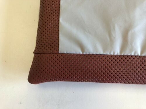 Lederpolster Sitzkissen Braun Echtleder Nappa 35x35x3 cm rutschfest Lochleder