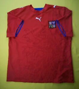 8239bf301 5 5 Czech Republic jersey XL 2006 2007 home shirt soccer football ...