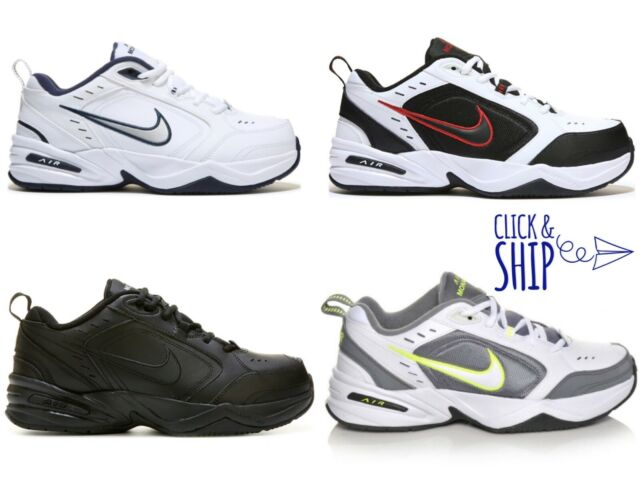 cheap for sale select for best hottest sale Nike Air Monarch IV 4 EXTRA WIDE 4E Walking Shoes Sneakers Mens RED BLACK  WHITE