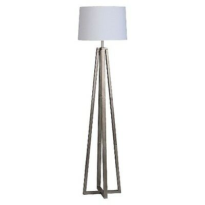 Threshold™ Brushed Silver Linear Shaded Floor Lamp