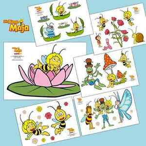 Biene Maja Kinderzimmer wandtattoo biene maja 6 motive 3 größen wandsticker kinderzimmer