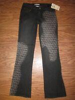 Akdmks Sparkle Aks Black Long Jeans Pants Women 5/6 $78.00