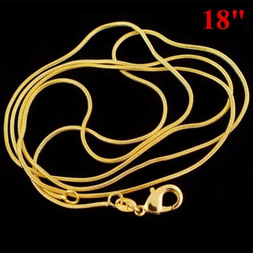 1.2 Mm Simple Jewelry 16-30 Inch Snake Chain Necklace 18K Yellow Gold Filled