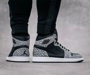 75da863d836ebe Nike Air Jordan Retro 1 High OG Black White Elephant Cement 3 ...